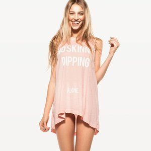 Wildfox No Skinny Dipping Alone Muscle Tank Top M